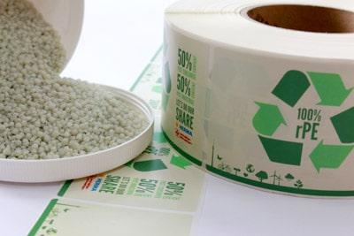 Recyclat Folienetikett