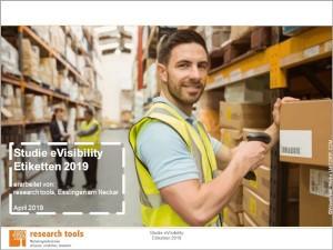 """Die """"Studie eVisibility Etiketten 2019"""" von research tools untersucht auf 71 Seiten die Präsenz der Top 100 Onlineshops für Etiketten"""