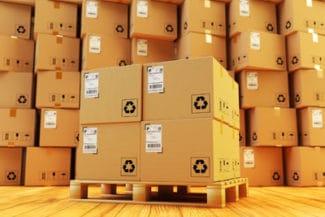 Versandfertige etikettierte Pakete