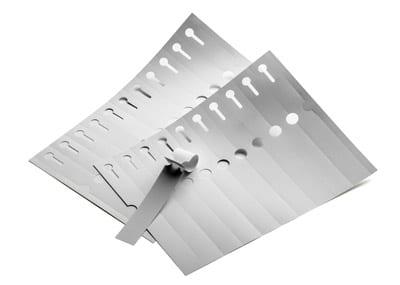 Alumium Feron - Schlaufenetiketten Monotex