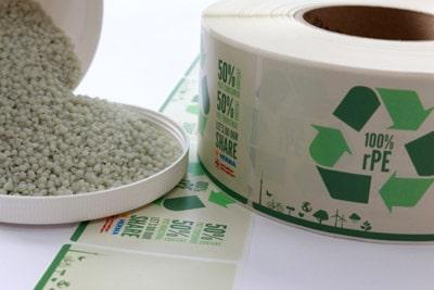 PE-Folienetikettn aus Recyclat