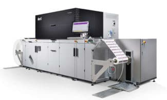 Das neue UV-Inkjet-System Tau RSCi bietet einen erhöhten Spitzendurchsatz von 100 m/min