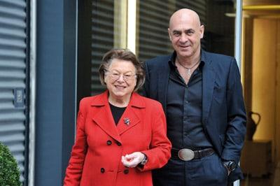 Sind stolz auf 100 Jahre Erhardt+Leimer: Hannelore Leimer, Vorsitzende der Geschäftsführung seit 1977, und Dr. Michael Proeller, CEO