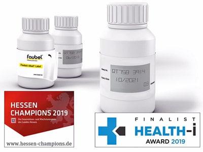 Beim Faubel-Med Label kann das auf dem E-Paper-Display abgebildete Haltbarkeitsdatum automatisch geändert werden