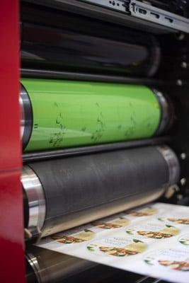 Die Imprima LJ Wasserlos-Offsetdruckplatte von Toray kam bei Live-Demos auf der Labelexpo Europe 2019 in Brüssel zum Einsatz