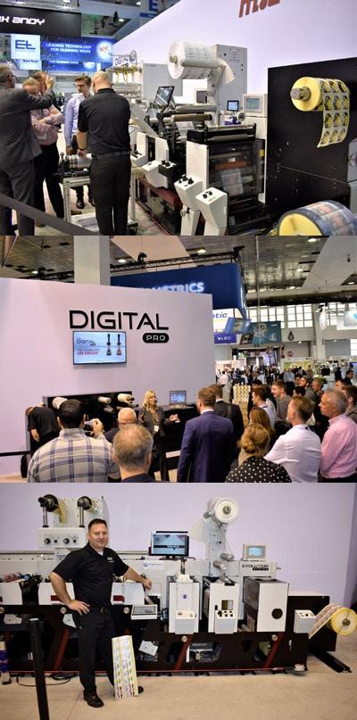 Mark Andy präsentierte in Brüssel unter anderem die Digital Series HD (oben), die Digital Pro 3 (mitte) und die Evolution Series (unten)
