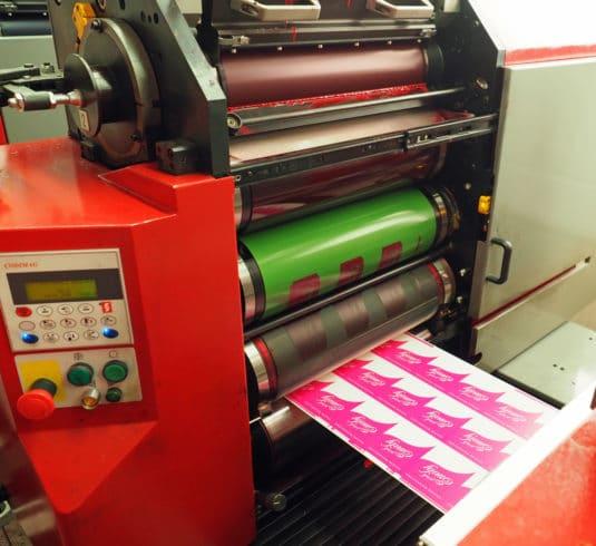 Die Verico-Zahara-NWL-Druckplatte im Einsatz in einer der Codimag-Viva-Aniflo-420-Druckmaschinen bei der Etikettenfabrik Küchler