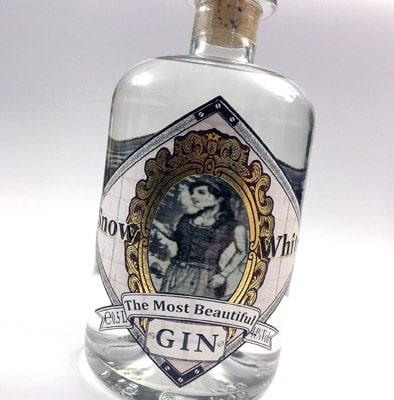 Das Siegeretikett Schneewittchen Gin von InForm Etiketten gewann den MPS Award in Gold