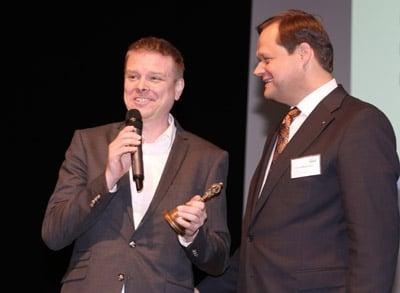 Der alte und der neue Vorsitzende des VskE: (l.) Manuel Heidbrink, Geschäftsführender Gesellschafter, orgakett GmbH und Robert Mägerlein, Geschäftsführer MC Line,