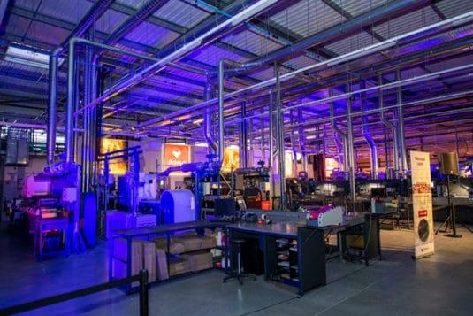 Innenansicht der neuen Adesa-Produktionsstätte