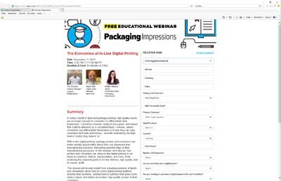 Mit einem Webinar möchten Packaging Impressions, Mark Andy und Cypress Multigraphics über den Inline-Digitaldruck informieren