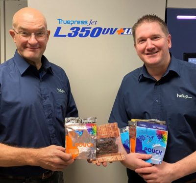 Bill Hine, Geschäftsführer von Hine Labels (links) und Richard Warne, Manager von houp.com