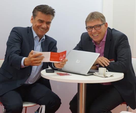 Dirk Lange (links) mit Thomas Reckert (rechts) Quelle: