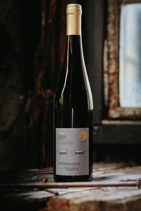 Eines der zahlreichen individuellen Weinetiketten-Designs von Franciska Martin für hochwertige Produkte