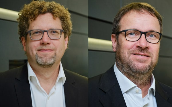 Dr. Robert Sänger (l.), Geschäftsführer für Entwicklung und Holger Kühn, Geschäftsführer Vertrieb der IST Metz GmbH