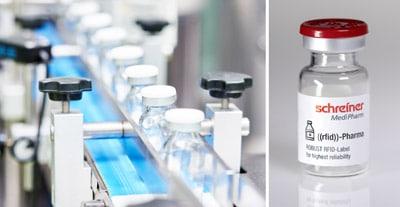 Das neue Robust RFID-Label von Schreiner MediPharm sorgt für eine zuverlässige Funktionalität des RFID-Chips von der Herstellung bis zur Endanwendung