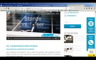 Umfassende Informationen zu den Themen konventionelles Stanzen oder Stanzen mit Laser bietet etikett.de auf seiner Website