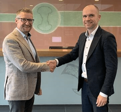 V.l.n.r.: Christian Huth; Sales Area Manager D/A/CH und Joris Cabri; Vice President Sales Europe & Afrika