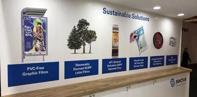 Innovia präsentierte sein PVC-freies Material erstmals bedruckt auf der Labelexpo