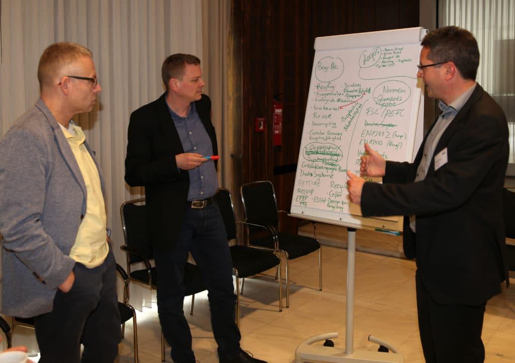 Eindrücke von der ersten Round-table-Veranstaltung der VskE zur Gründung des Arbeitskreises Nachhaltigkeit
