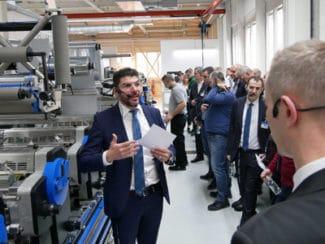 Im Print Media Center Label sahen die Besucher unter anderem, wie die Etikettenproduktion mit der Gallus Labelmaster Advanced funktioniert