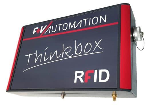 Die ThinkBox RFID von F+V Automation. Darin ist die gesamte Technik enthalten