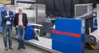 Remko Koolbergen (l.) und Peter Kloppers gründen DG Press und entwickeln die neue Generation der variablen Sleeve-Offsetdruckmaschinen namens 'Thallo' (Quelle: DG Press)