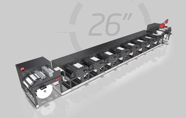 Die neue 26-Zoll breite Nilpeter FA ermöglicht es auch Etikettendruckern in den wachsenden Markt für flexible Verpackungen einzusteigen (Quelle: Nilpeter)