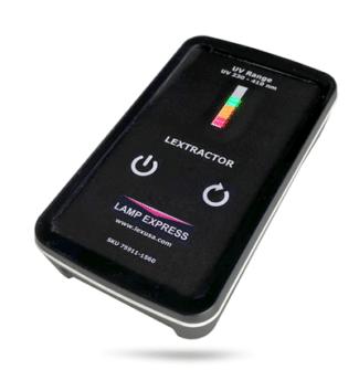 Einfach zu bedienen und abzulesen, der Lextrator von Lamp Express (Quelle: Lamp Express)