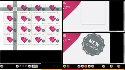 Der Softproof ermöglicht bereits die Erkennung von Fehlern auf dem Monitor (Quelle: EyeC)