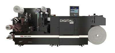 Blick auf die neue Gesamtmaschine Digital Pro3 mit Finishing (Quelle: Mark Andy]