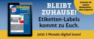 Etiketten-Labels-Abonnenten können ihr Magazin jetzt 3 Monate lang kostenlos auch digital lesen.