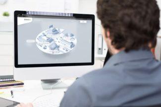 """Der neue """"Innovations-Hub"""" von Esko bietet den Nutzern die Möglichkeit das Portfolio an neuen und aktualisierten Produkten in einer virtuellen Umgebung zu erkunden (Quelle: Esko)"""