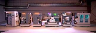 Das neue Finishing-System speziell für die Hochgeschwindigkeits-Digitaldruckmaschine HP Indigo V12 (Quelle: AB Graphic)