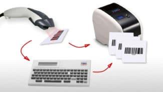 Die Kombination von Scanner, Tastatur (optional) und Drucker reicht für die Barcode-Duplizierung aus (Quelle: Mediaform)