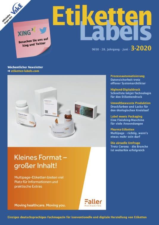 Die aktuelle Ausgabe 3/2020 der Etiketten-Labels ist auf dem Markt