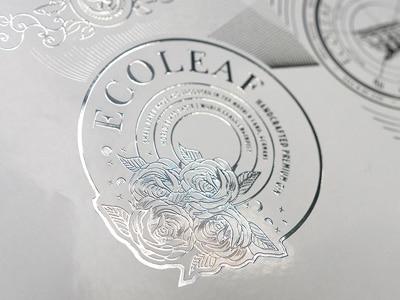 EcoLeaf ist eine Digitallösung zur Veredelung von selbstklebenden Etiketten mit metallischen Effekten (Quelle: Actega)