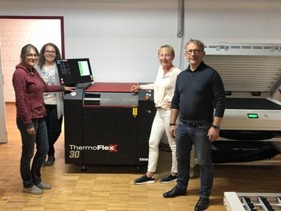 Der Thermoflexx30 Flexoplattenbelichter der Flint Group produziert künftig bei Etiket Schiller in Plüderhausen (Quelle: Flint Group)