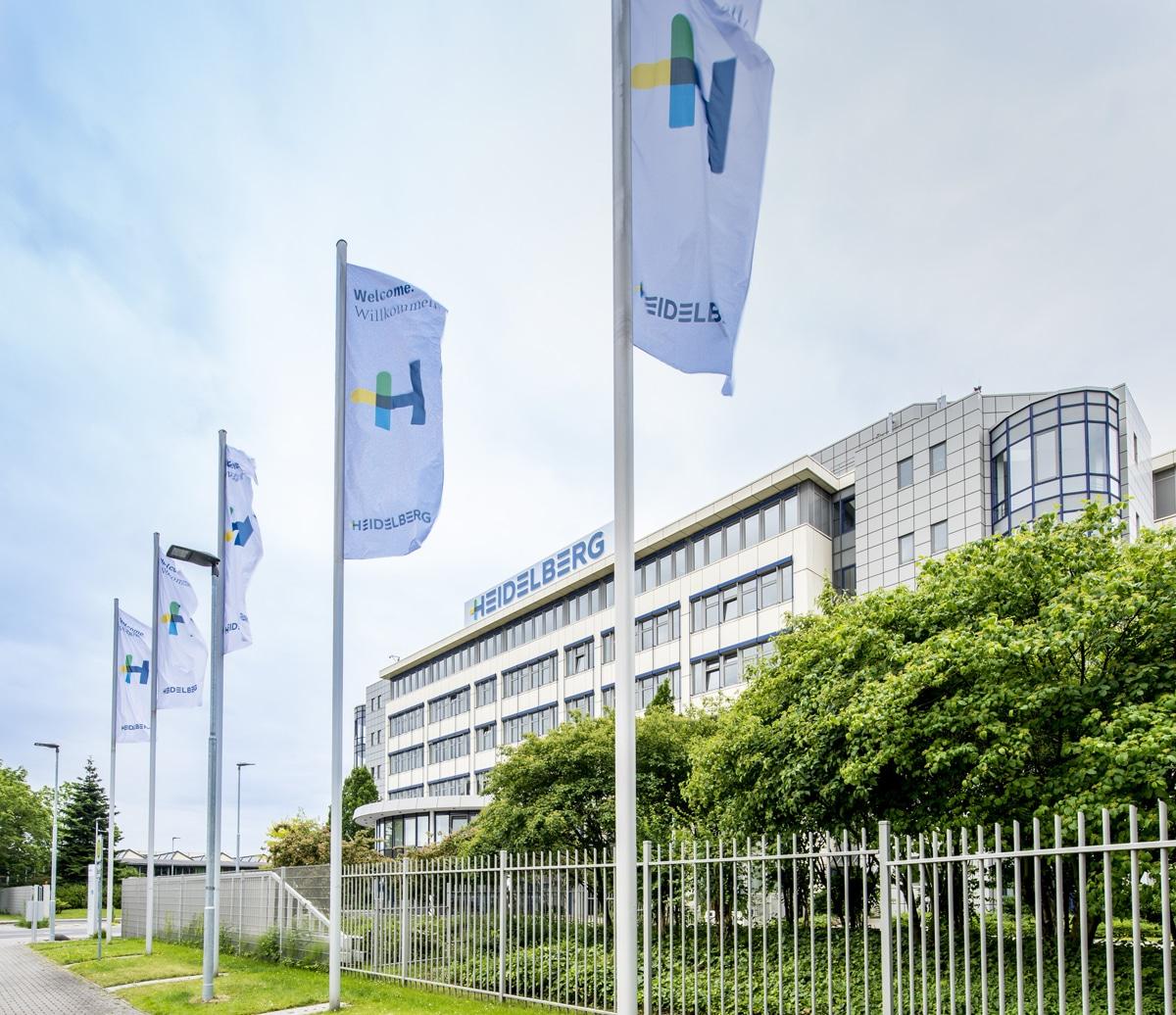 Heidelberger Druckmaschinen am Standort Wiesloch. Das Unternehmen verzichtet für 2021 auf die drupa-Teilnahme (Quelle: print.de)