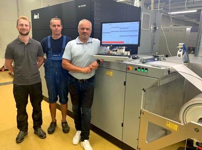 LabelPrint OÜ, ein Etikettendruck-Unternehmen aus Tallinn, setzt auf die neueste Durst RSCi für den Umstieg vom Flexo- auf den Digitaldruck auch für größere Auflagen (Quelle: Durst)