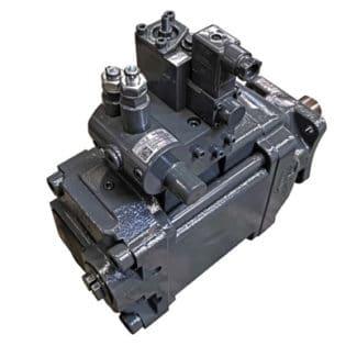 Hydraulikpumpe von InLine Hydraulik mit Lackierschutzetikett nach der Lackierung (Quelle: Schreiner Group)