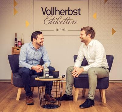 Stefan (l.) und Matthias Vollherbst, Geschäftsführer der VollherbstDruck GmbH, Endingen (Quelle: VollherbstDruck)