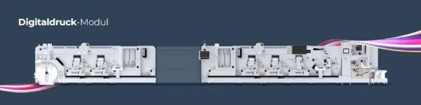 Das Digicon Hybrid Konzept: die offene Systemarchitektur ermöglicht die herstellerunabhängige Integration von Digitaldruckmodulen (Quelle: A B Graphic)