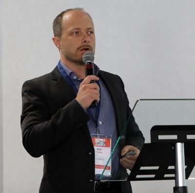 Cyrille Roze, der neue UNFEA-Präsident und Inhaber der Firma Stic Image, Lyon (Quelle: John Penhallow)