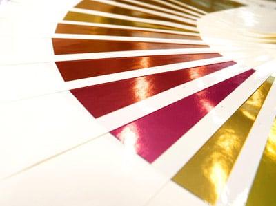 Im Grunde lassen sich mit EcoLeaf alle Farben in Metallic-Look ausführen (Quelle: Actega)