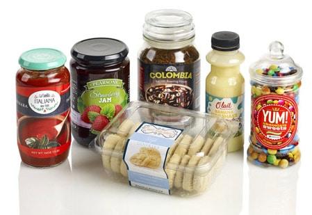 Produktbeispiel Lebensmitteletiketten (Quelle: Rotocontrol)