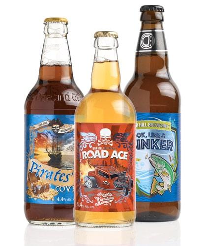Produktbeispiel Bieretiketten, z.B. Craft-Biere in kleinen bis mittleren Auflagen