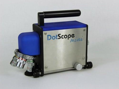 Ein Messzyklus des kompakten und leichtgewichtigen DotScope dauert 15 bis 20 Sekunden (Quelle: Grafitex)