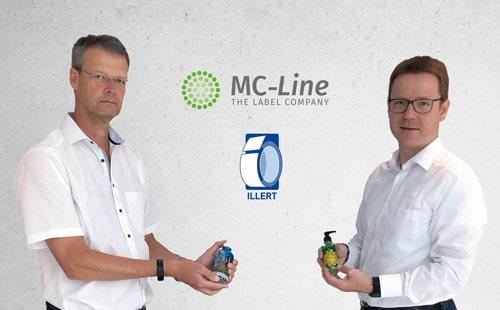 Gemeinsam stark: Dietrich Maegerlein (l.), MC-Line, Marburg und Maximilian Illert, Illert Etiketten, Hanau (Quelle: MC-Line)