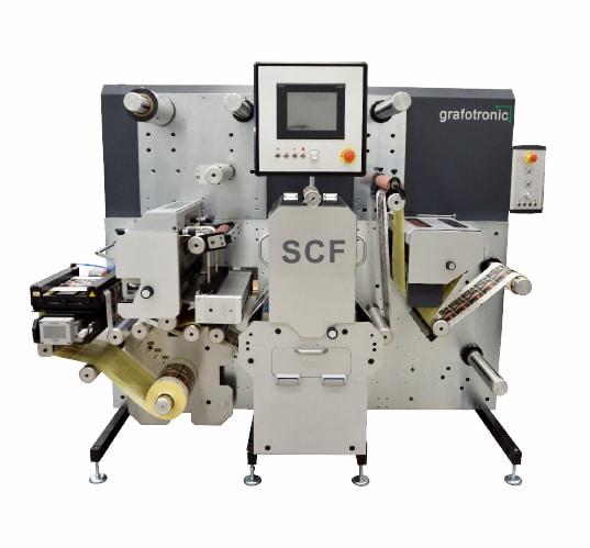 Mit der Grafotronic SCF werden bei August Peese hauptsächlich vorbedruckte Materialien endverarbeitet mit Stanzen (halbrotativ) und Schneiden (Quelle: Graficon)